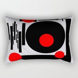 Optical Red Rectangular Pillow