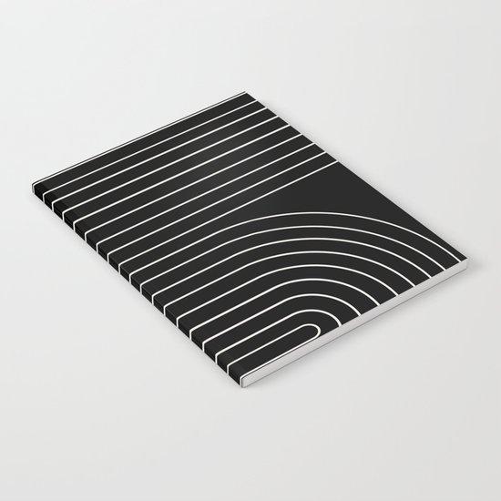 Minimal Line Curvature - Black and White II by midcenturymodern