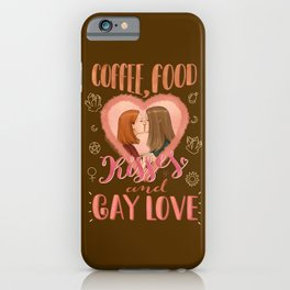 Gay Love iPhone Case