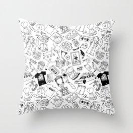 It's Always Sunny Illustration Pattern Throw Pillow