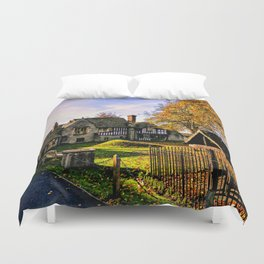 Almonry in Autumn Duvet Cover