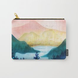 Lake beneath the towering hills Carry-All Pouch
