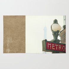 Metro in Paris Rug