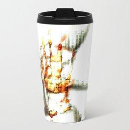 Trace of the hand Travel Mug