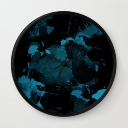 Abstract Paint Spill Pattern Wall Clock