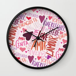 Love Languages Wall Clock