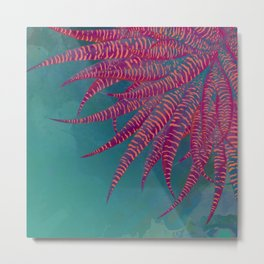 Agave psychedelic colors Metal Print