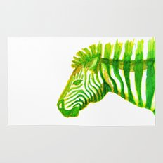 Zebra Watercolor Print Rug