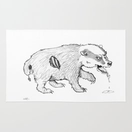 Zombadger Rug