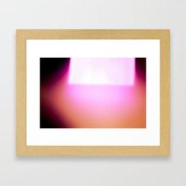 moving light Framed Art Print