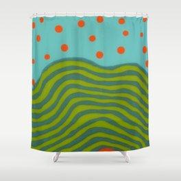 Untitled, orange dots Shower Curtain
