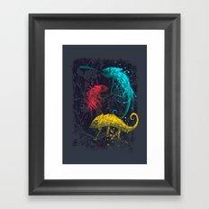 Coloration Framed Art Print