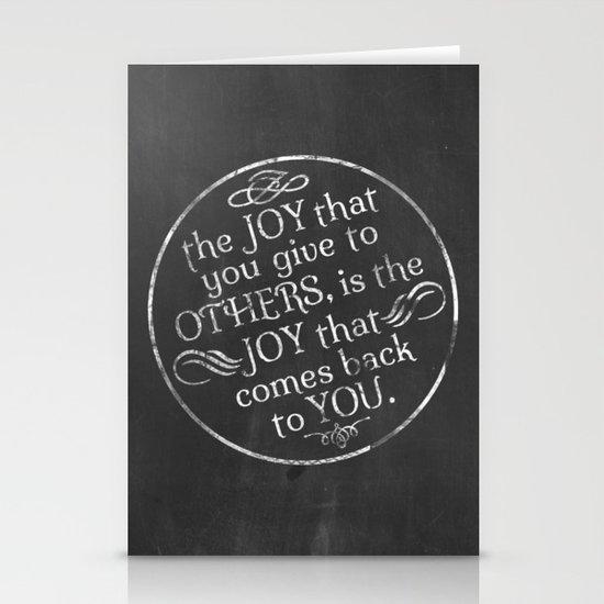 Give Joy  Stationery Cards