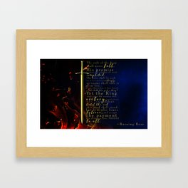 Burning Rose Framed Art Print