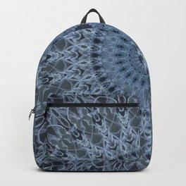Gray and light blue mandala Backpack