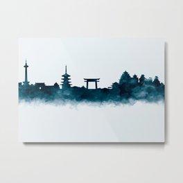 Kyoto Skyline Metal Print