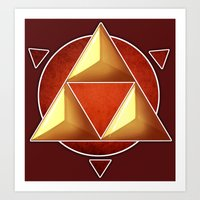 triforce Art Prints featuring Triforce by lythy