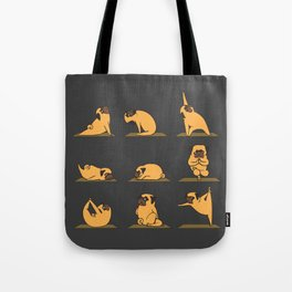 Pug Yoga // Black Tote Bag