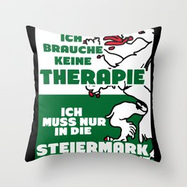 Styria - Funny Therapy Saying Throw Pillow