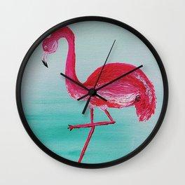 Frank the Flamingo Wall Clock