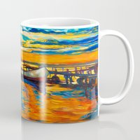 boat Mugs featuring Boat by BOYAN DIMITROV