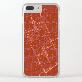 Rimini Card of Burnt Sienna Clear iPhone Case