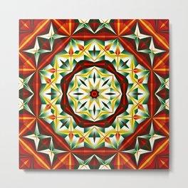 Winter cheer, abstract pattern design Metal Print