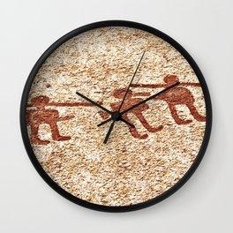 Pictogram at Vitlycke, Sweden 8 Wall Clock