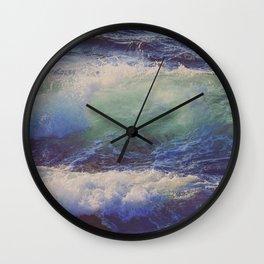 Splashing Saphire Wall Clock