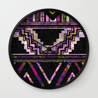 native american Wall Clocks featuring Native American by Ben Geiger