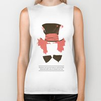 mad hatter Biker Tanks featuring Mad Hatter by TurtleGirl
