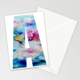 Watercolour Effect Initial Print Stationery Cards