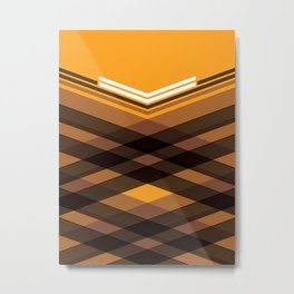 Brown Stripes Metal Print