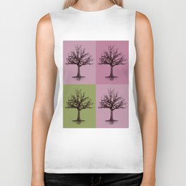 Tree Collage Biker Tank