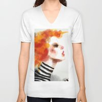 pin up V-neck T-shirts featuring Pin by Dnzsea