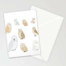 Owls of The World, Owl Lover Gift, Bird Lover, Bird Watcher Shirt Stationery Cards