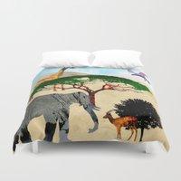 safari Duvet Covers featuring Safari by Design4u Studio