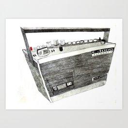 Grundig Radio Cassette Art Print