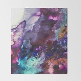 Expressive Flow 1 - Mixed Media Pain Throw Blanket