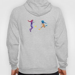 Women soccer players 01 in watercolor Hoody
