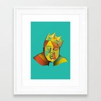 biggie Framed Art Prints featuring Biggie by Monica O