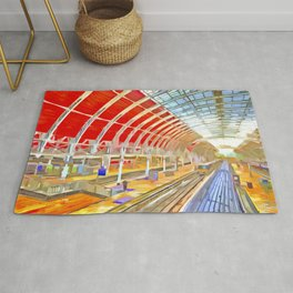 Paddington Railway Station Pop Art Rug