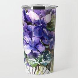 Violet flowers, wild violet flowers Travel Mug
