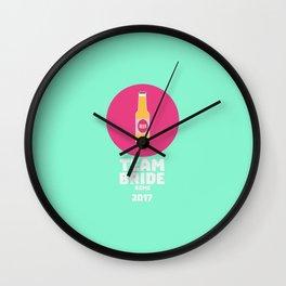 Team bride Rome 2017 Henparty T-Shirt D5ogg Wall Clock