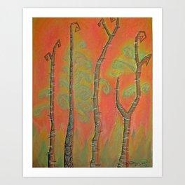 African Birch Art Print