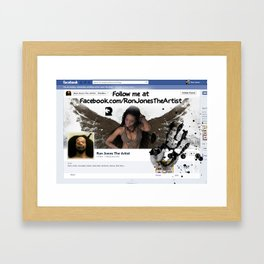 FOLLOW ME :) Framed Art Print
