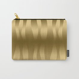 Modern Gold Abstract Zebra Stripes. Carry-All Pouch