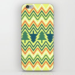 Christmas trees iPhone Skin