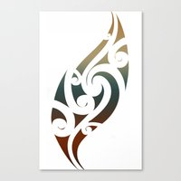 maori Canvas Prints featuring Maori Style by Lonica Photography & Poly Designs