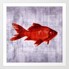 Salty Fish Art Print
